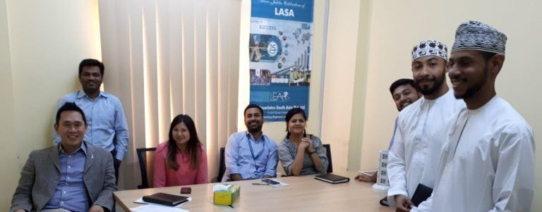 Associates from LEA meet with delegates from Oman.