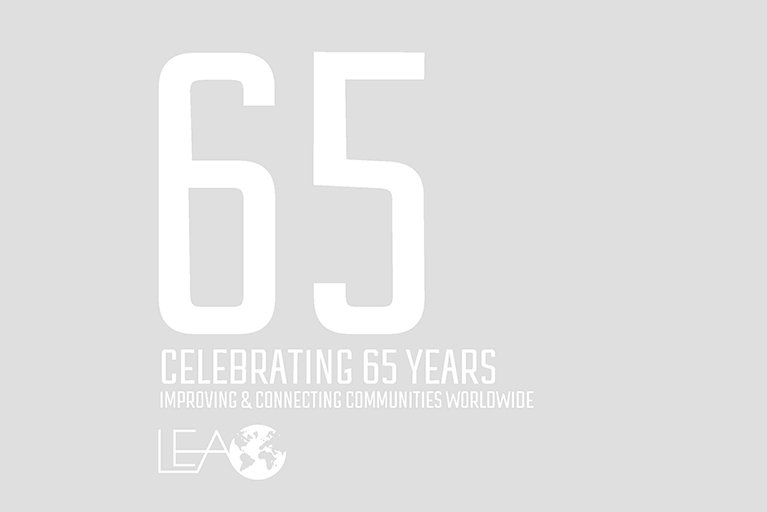 LEA 65th anniversary booklet cover image.